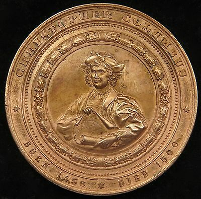 1893 Columbian Exposition Medal Christopher Columbus Copper Eglit 55