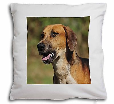 Foxhound Dog Soft Velvet Feel Scatter Cushion Christmas Gift, AD-FH1-CPW