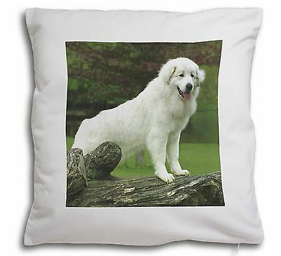 Pyrenean Mountain Dog Soft Velvet Feel Scatter Cushion Christmas Gif, AD-PM1-CPW