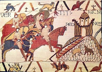 Normandy France Bayeux Tapestry Assault on Rennes Vintage Postcard Embroidery