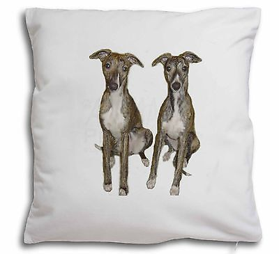 Whippet Dogs Soft Velvet Feel Scatter Cushion Christmas Gift, AD-WH91-CPW