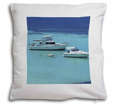 Yachts in Paradise Soft Velvet Feel Cushion Cover With Inner Pillow, BOA-5-CPW