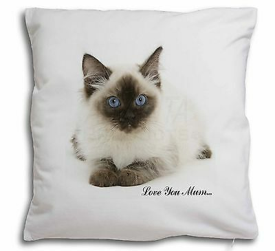 Ragdoll Cat 'Love You Mum' Soft Velvet Feel Scatter Cushion Christma, MUM-C5-CPW