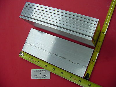 """8 pieces 1/4"""" X 3"""" ALUMINUM 6061 FLAT BAR 8"""" long T6511 Solid Plate Mill Stock"""