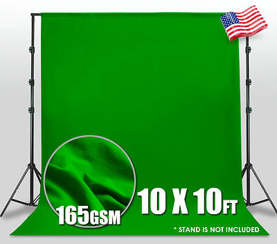 Chromakey Green Screen  10ft Cotton Muslin Backdrop Photo Photography Background