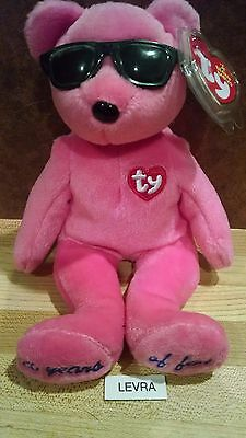 CHICAGO pink SUMMERTIME FUN Ty Beanie Baby Babies Bear FREE SHIPPING mwmt