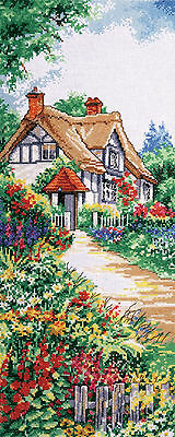 Cross Stitch Kit ~ Design Works Thatched Cottage Secluded Home in Woods #DW2768