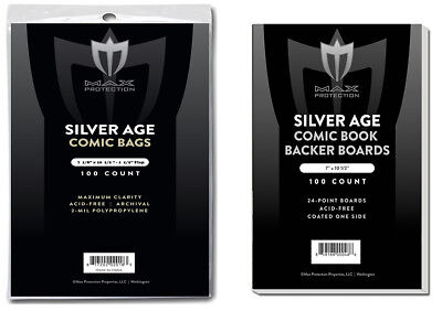 700 Silver Age Comic Bags & Backing Boards - Max Pro - Industry Standard