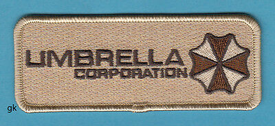 Resident Evil Umbrella Corp Tag Patch (Tan)