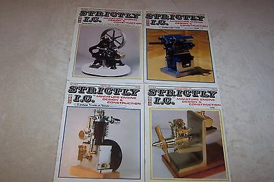 Lot Of 4 Strictly I.c. Magazines From 1998 Miniature Engine Design Good Cond.
