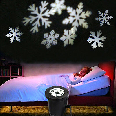 Moving Landscape laser projecteur lumière Décorations de Noël Snowflake Light