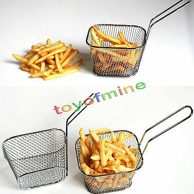 Hot Mini Frying Net Square Basket Strainer French Fries Fryer Tools