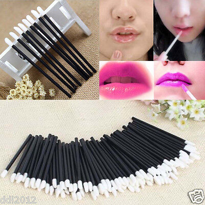 100PCS Lipbrush Lip Gloss Brush Disposable Wands Lipstick Gloss Applicators Tool