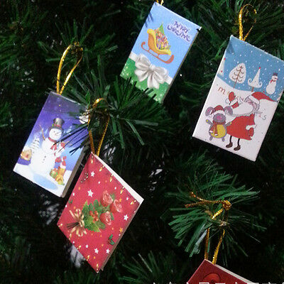 Hot 10 Cards Christmas theme tree Ornaments hanging card Greeting Cards Gift Tag