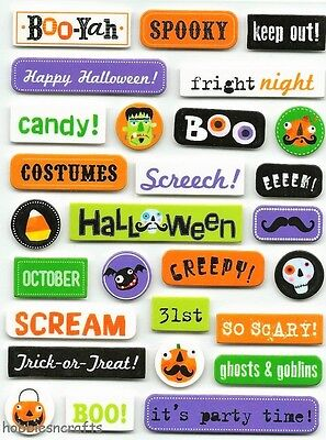 Mambi - Me & My Big Ideas Soft Spoken Stickers - Assorted Halloween Captions