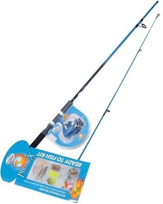 Jarvis Walker 6ft 2 Pce Phoenix Fishing Rod and Reel Combo with 65Pce Tackle Kit