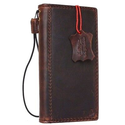 vintage genuine real leather case for Google Pixel XL book wallet cover strap JP