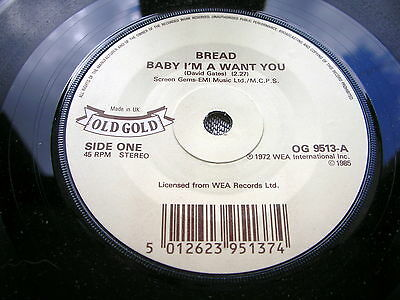 Bread - Baby I'm A Want You / If