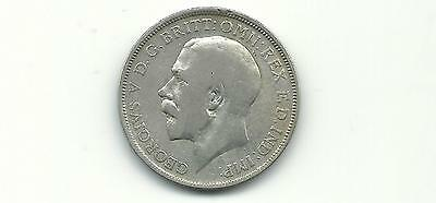 Great Britain Uk 1920 Florin Silver  Coin