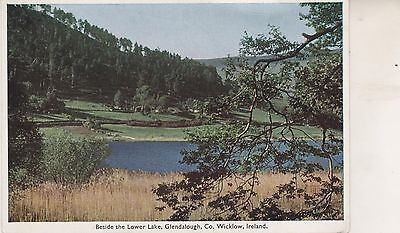 Glendalough. The Lower Lake.  Postcard in GC. Unwritten and Unposted