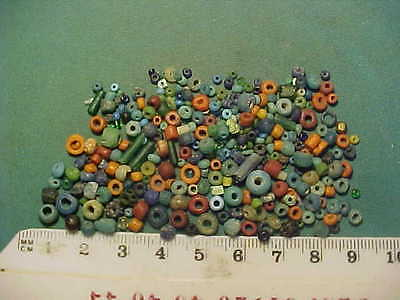 200+ small Genuine ancient  Roman beads circa 100-400 AD