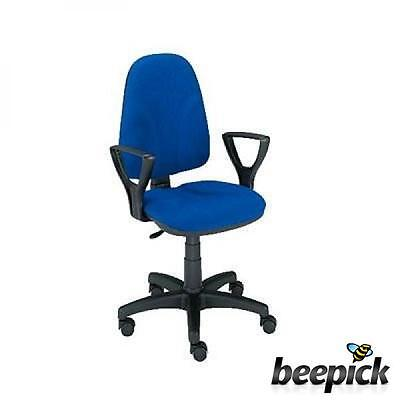 5Star 132482-Office Chair with Fixed Arms-Blue #3879
