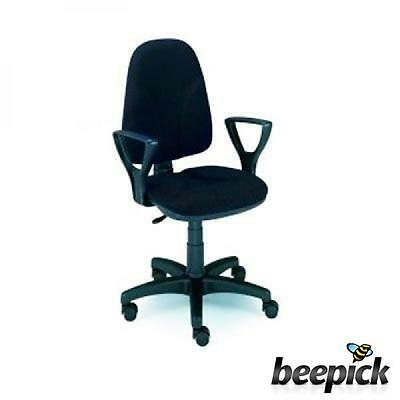 5Star 1006NE-Roma Chair with Fixed Arms, Black #3862