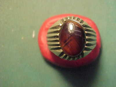 Near Eastern hand crafted  solid silver ring, Carnelian stone  circa 1700-1900