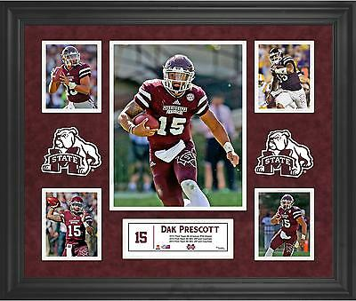 "Dak Prescott Mississippi State Bulldogs Framed 20"" x 24"" 5-Photo Collage"