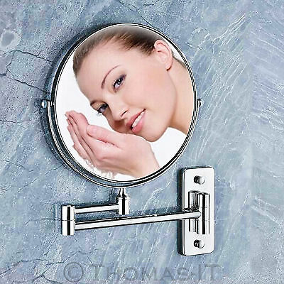 Extending Wall Mounted Magnifying Shaving Vanity Makeup Bathroom Mirror Chrome