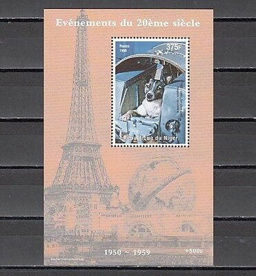 * Niger, 1998 issue. Russian Space Dogs s/sheet.