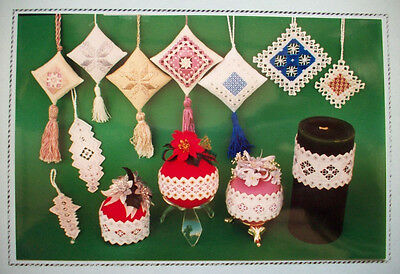 A Crystal Christmas ornaments  Hardanger pattern