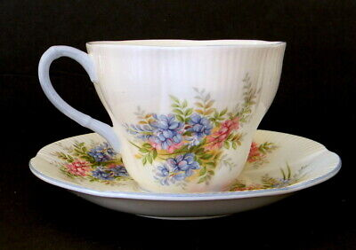 Royal Albert Cup and Saucer Set Blossom Time Series Wisteria Bone China England