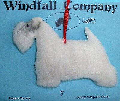 Sealyham Terrier Dog Soft Plush Canine Christmas Ornament # 5 by WC