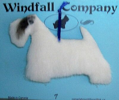 Sealyham Terrier Dog Soft Plush Canine Christmas Ornament # 7 by WC