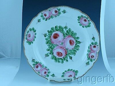 """Antique Hand Painted Meissen 10 1/4"""" Floral Bowl Free Shipping"""