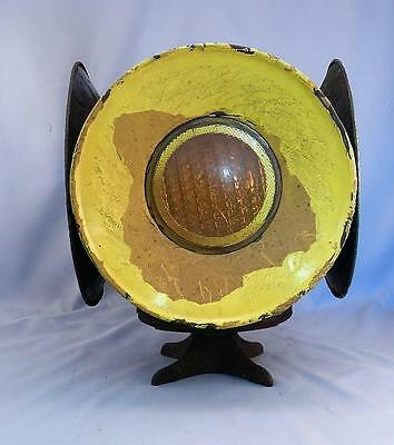 Vintage~Antique Railroad Switch Train Lantern Light~Electric Lamp~4 Lens~