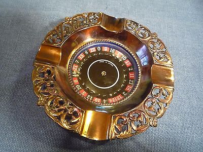 vintage spinning ROULETTE WHEEL copper finish Made in japan VG working