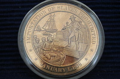 1808 - Franklin Mint History of the United States Bronze Coin