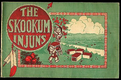 1927 Skookum Injuns Apples 18 Page Racist Native American Comic Adv Booklet