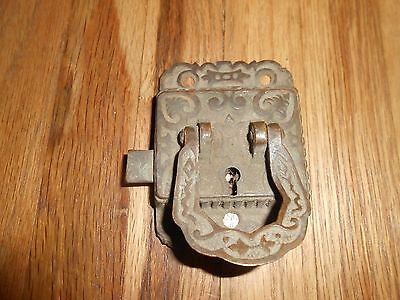 Antique Brass Victorian Lift ICE BOX Door Latch Cabinet Handle Pull Hardware