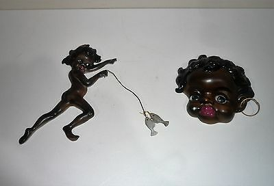 VINTAGE TWO BROWNIE DOWNING WALL PLAQUES 1960s ERA
