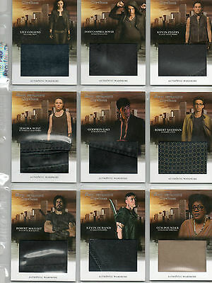 Mortal Instruments - City Of Bones Autograph And Wardrobe Card Selection NM