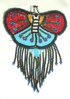 Barrette Beaded Butterfly w Fringe  French clip closure Hair accessory #20