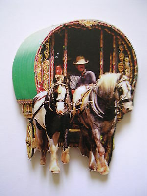 Gypsy / Traveller Boswell Caravan Jumbo Size Fridge Magnet.new
