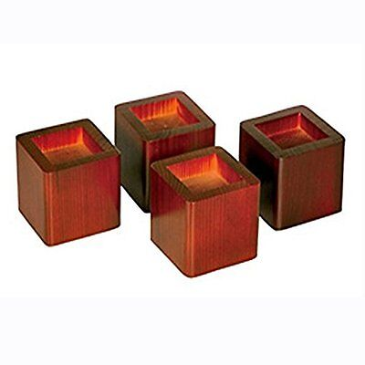 Set Of 4 Wood Bed Risers Lift Table Furniture Lifts Storage Mahogany Richards Ne