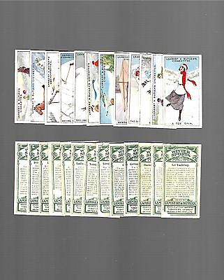 CIGARETTE CARDS. Winter Sports by Lambert & Butler Tobacco. (Complete Set of 25)