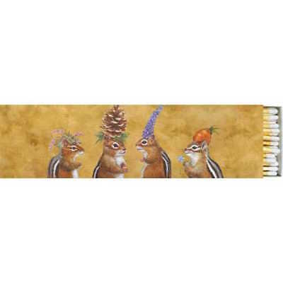 "Paper Products Designs - 8"" Match Box Set of 2 - Chipmunk"