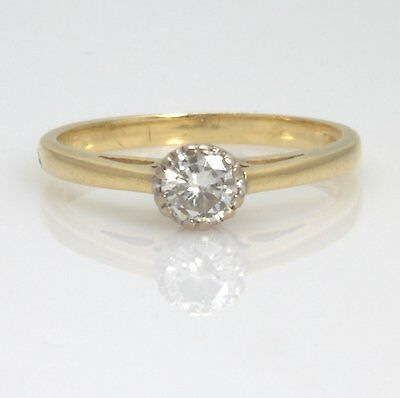 Gorgeous 18ct Gold Brilliant Cut Diamond Solitaire Engagement Ring Size K