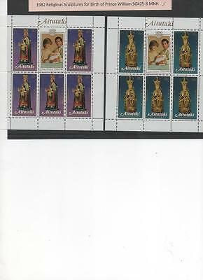 Aitutaki 1982 - 3 MNH Souvenir Sheets for the Birth of Prince William 2 scans